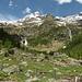 I pascoli dell'Alpe Campo Tencia con cima omonima alle spalle.