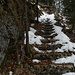 die Steinstufen zum Gipfel