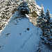 Bevor es dann ohne Skier über das Chraienhöreli geht.