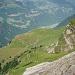 Blick von der Bergstation der Seilbahn hinunter auf meine Aufstiegsroute.