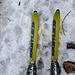 Ich habe heute meine alten Asphaltschneider ausgewählt (Kästle Firn Extrem, 130cm lang), mit einer Silvretta 404 Bindung. Nostalgie ist halt was Schönes! ☺