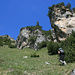En haut du Val da Mot, au leu de continuer sur le sentier vers le Mot Dadora, nous sommes allés plus à gauche