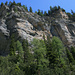 Les beaux rochers à droite du Val da Mot.
