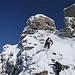 Kraxelei zum Gipfelturm