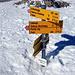 Täuscht. Der Gipfel ist weitgehend abgeblasen, das ist ein verkürzter Wegweiser.