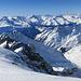 Blick ins Val Russein und auf unseren späteren Abfahrtshang