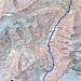 Aufstieg ab Tierfehd  Quelle: Swiss Map online