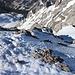 Abstieg über das rechte Schneefeld