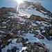 Der namenloser Gipfel links vom Sattel