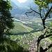 Blick vom Schnielskopf über Fläsch nach Bad Ragaz
