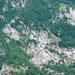 Cogliata unten links - Monti di Dentro oben rechts - Pass d'la Zandela oben links