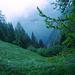 Filo d'Afata: Wichtige Abzweigung beim Tiefblick ins Val Cramosino