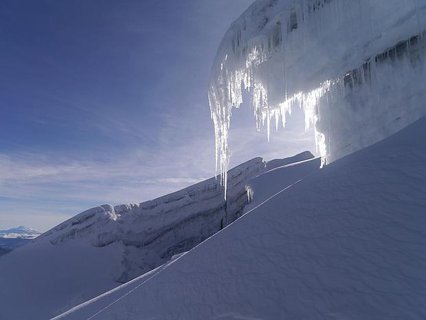 Eiszahpfen auf dem Cotopaxi.