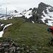 Auf dem ersten Gipfel, dem Erdisgulmen. Hinten Spitzmeilen und Magerrain.