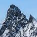 Zoom auf den beeindruckenden Rimpfischhorn-Gipfel. Um die Spannung nicht unnötig hinauszuzögern: ja wir haben es geschafft!
