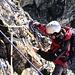 Matrialschlacht beim nachsichern am Stand. In der Südflanke des Petit Mont Collon 3556m