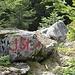 Diese Markierung befindet sich beim Einstieg in den Jägersteig und ist vom Wegweiser bei Punkt 1561 zu sehen.