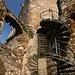Über diese Wendeltreppe gelangt man zum Bergfried.