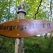 Wegbezeichnung am interessanten Burgengratweg