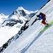 Skifahren vor dem Lyskamm