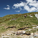 Il sentiero che dalla Cap. Al Legn sale verso la Bocchetta di Valle