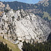 Vom Tierberg-Gipfel: Brüggler.<br />Wer sieht die Kletterer?