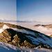 Panorama 2: Vom Zackengrat – Blick in die Walliser Riesen und das Nebelmeer