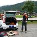 Wanderparkplatz Hammersbach - lästiges zusammenpacken ;)
