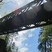 Blick hoch zur Rappenlochbrücke