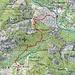 Cranzünasc - Übersichtskarte: Achte den Standort der verlorenen Camera (Symbol)