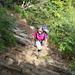 Einstieg in den klettersteigähnlichen Schlussaufstieg