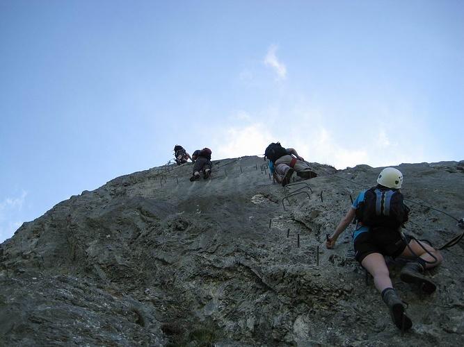 Klettersteig Zittergrat : Zittergrat klettersteig brunni fotos hikr