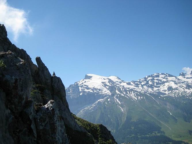 Klettersteig Zittergrat : Titlis vom zittergrat klettersteig aus fotos hikr