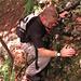 Kletterstelle im Abstieg