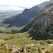 die breite Rinne von oben (ca. 720 m)