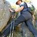 erste Felsstufen müssen erklommen werden