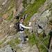 Passaggio con catene scendendo dalla capanna