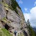 Sonnenschein und kühle Temperaturen auf dem Felsenweg