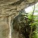 Die Höhle der Kletterer und der Ausstieg mit Leitern für diejenigen, die nicht überhängend gehen