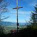 """""""Gipfelkreuz"""" am Westsporn des Hittisberges. Hier hat man den 300Hm Steilaufstieg hinter sich."""
