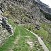 der breite Fahrweg, hier bereits als Wanderweg markiert