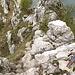 l'ultima (o la prima) catena della ferrata della cresta della Giumenta