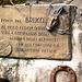 targa ricordo sul ponte alla fonte di San Carlo