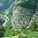 La Sentinella, berühmte Kletterwand über Gondo (nix Plaisir...)