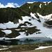 il lago di Carì: ancora neve
