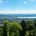 Aussicht vom Rastplatz Üetliberg auf Zürich und den Zürichsee