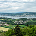Aussicht vom Aussichtsturm Hohwacht Albis auf den Zürichsee