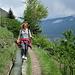"""Aussichtsreiche Wanderung entlang der """"Waale"""". Fehlt nur noch der Spagat... ;-)"""