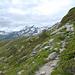 dal sentiero, sullo sfondo il Pizzo Piani e Ferré