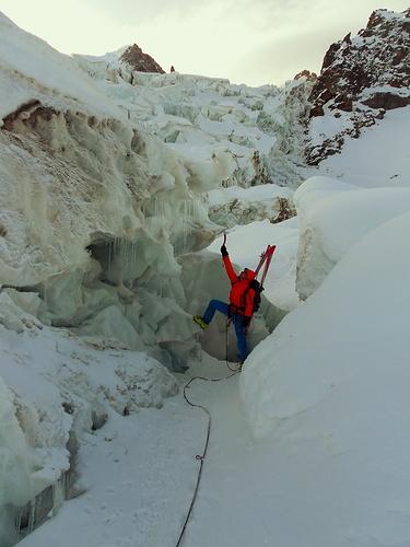 Spaltenbruch am Bossons Gletscher